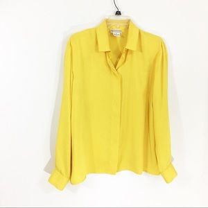 Vintage Evan Picone Yellow Blouse